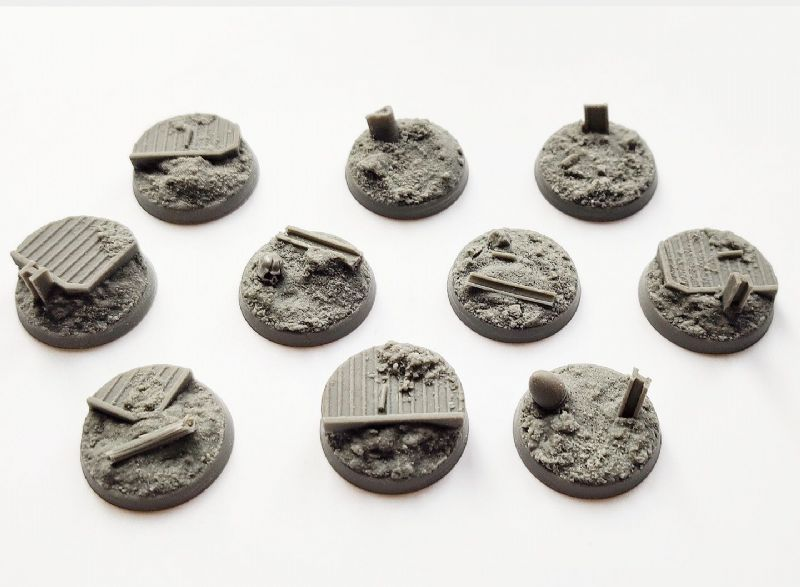 25mm Trench Warfare  Bases (10)